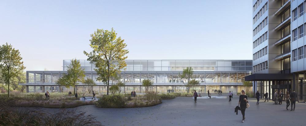 Das neue Innovationszentrum in Kaiseraugst soll 2023 bezugsfähig sein. Bild: DSM